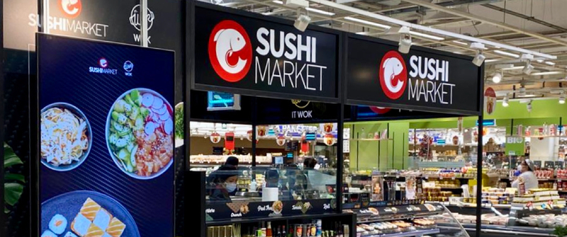 featured image thumbnail for post Il digital signage Livion per Sushi Market e Sushi Gourmet